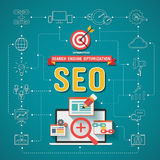 SEO Search-Maschinenoptimierung Infographics Stockfotografie