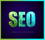 SEO Search-Maschinenoptimierungskonzept mit abstrakten Designen Lizenzfreie Stockfotos