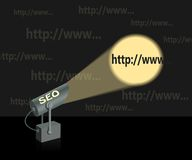 SEO-searchlight. Royalty Free Stock Photography