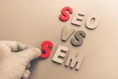 SEO AND SEM Stock Photos