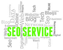 Seo Service Indicates Search Engines And Assistance Stock Photography