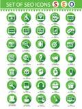 SEO Service moderno, iconos del web Fotografía de archivo libre de regalías