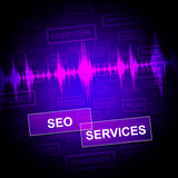 Seo Services Indicates Help Desk And Business Stock Image