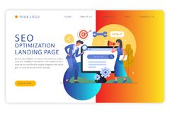 Business Landing page Design -Abstract stock illustration