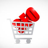 Seo shopping cart illustration design Stock Images