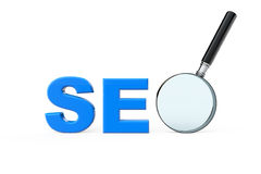 SEO sign with magnifier Stock Image