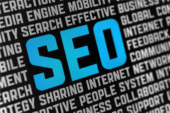 SEO Sign Poster Royalty Free Stock Images