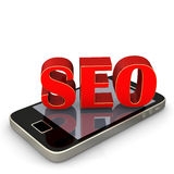 SEO Smartphone Royalty Free Stock Photo