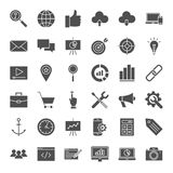 SEO Solid Web Icons Photos libres de droits