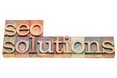 SEO solutions banner Royalty Free Stock Images