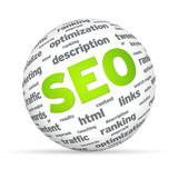 SEO Sphere Royalty Free Stock Photo