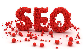 SEO spheres Royalty Free Stock Image