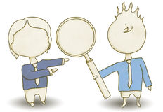 Seo Staff com trajeto de grampeamento ilustração do vetor