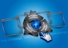 Seo Strategie - Kommunikationskonzept Stockfotografie
