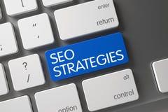 SEO Strategies-Nahaufnahme der Tastatur 3d Stockbilder