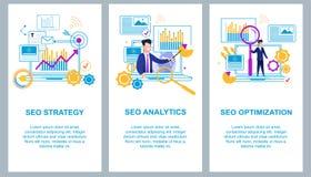SEO Strategy SEO Analytics Optimização de SEO ilustração royalty free