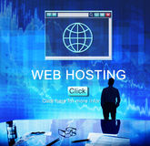 SEO strony internetowej web hosting technologii Online pojęcie Obrazy Royalty Free
