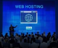 SEO strony internetowej web hosting technologii Online pojęcie Fotografia Stock