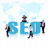 Business SEO - Search Engine Optimization Stock Photo