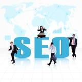 Geschäft SEO - Search Engine Optimierung stockfoto