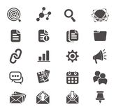 SEO-symbolsuppsättningar Arkivbilder