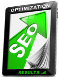Seo Tablet PC Green Arrow Royalty Free Stock Image