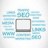 SEO Tag Cloud Photo stock