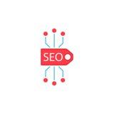 Seo tag flat icon Royalty Free Stock Image