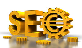 Seo tag with gears Stock Photo