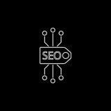 Seo tag line icon Royalty Free Stock Image