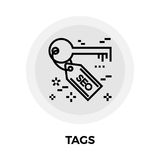 SEO Tag Line Icon. SEO Tag icon vector. Flat icon isolated on the white background. Editable EPS file. Vector illustration Royalty Free Stock Photography