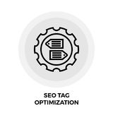 SEO Tag Optimization Line Icon stock foto's