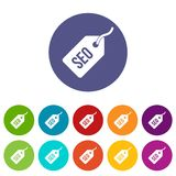 Seo tag set icons Stock Image