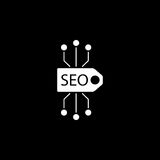 Seo tag solid icon Royalty Free Stock Photography