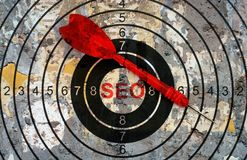 Seo target concept Royalty Free Stock Photos
