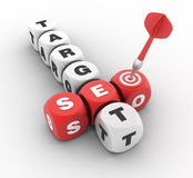 Seo Target Crossword Immagine Stock