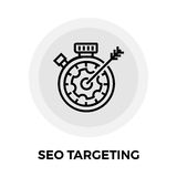 SEO Targeting Line Icon Photos libres de droits