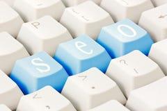 SEO Tasten auf der Tastatur Lizenzfreies Stockfoto