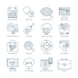 SEO Thin Line Icons moderno 2 Immagine Stock