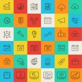 SEO thin line icons Stock Photo