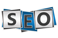 SEO Three Blocks Images libres de droits