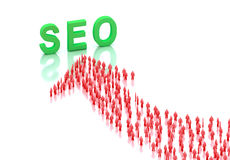 SEO traffic concept. 3d render Royalty Free Stock Photography