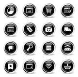 SEO und der Entwicklung Ikonen einfach Lizenzfreie Stockbilder