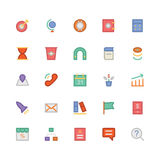 SEO und Marketing farbige Vektor-Ikonen 2 Lizenzfreie Stockfotografie