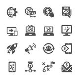 Seo und Marketing-Ikonensatz, Vektor eps10 Lizenzfreies Stockbild