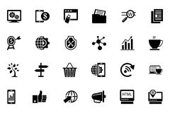 SEO und Marketing-Vektor-Ikonen 3 Lizenzfreie Stockfotografie