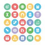 SEO und Marketing-Vektor-Ikonen 2 Lizenzfreies Stockfoto