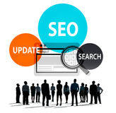 Seo Update Search Internet Technology företags begrepp Arkivfoto