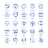 Seo Vector Icons Set vektor illustrationer