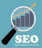 SEO - Vector plano del icono de la optimización del Search Engine ilustración del vector
